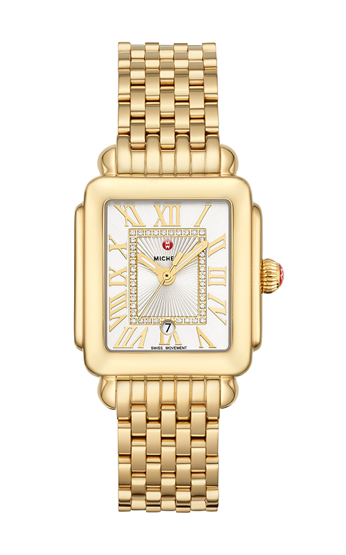Michele Deco Madison Mid Gold Diamond Dial Watch MW06G00A9120_MS16DM246710