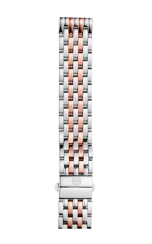 Michele 16mm Deco Mid Two-Tone Pink Gold 7-link Bracelet MS16DM775045