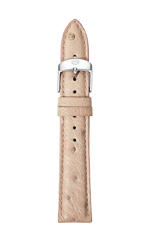Michele 16mm Natural Ostrich Strap MS16AA190101