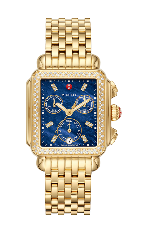 Michele Signature Deco Gold Diamond Watch MW06P01B0135_MS18AU246710