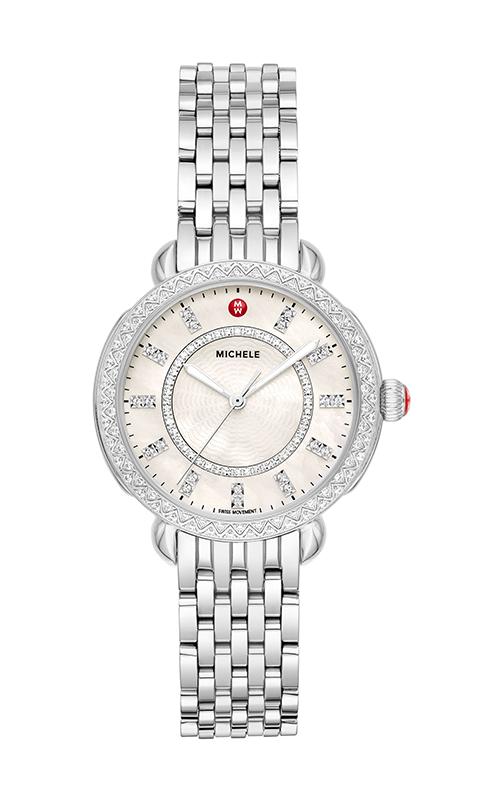 Michele Sidney Classic Stainless Steel Diamond Watch MWW30B000001