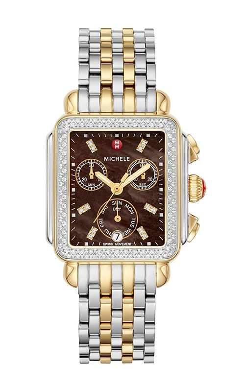 Michele Signature Deco Two-Tone Diamond Watch MW06P01C5136_MS18AU285048