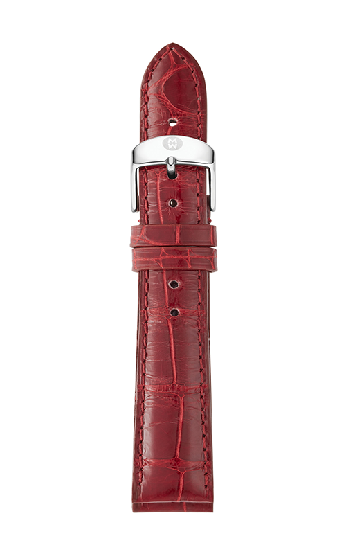 Michele 16mm Cabernet Alligator Strap MS16AA010607