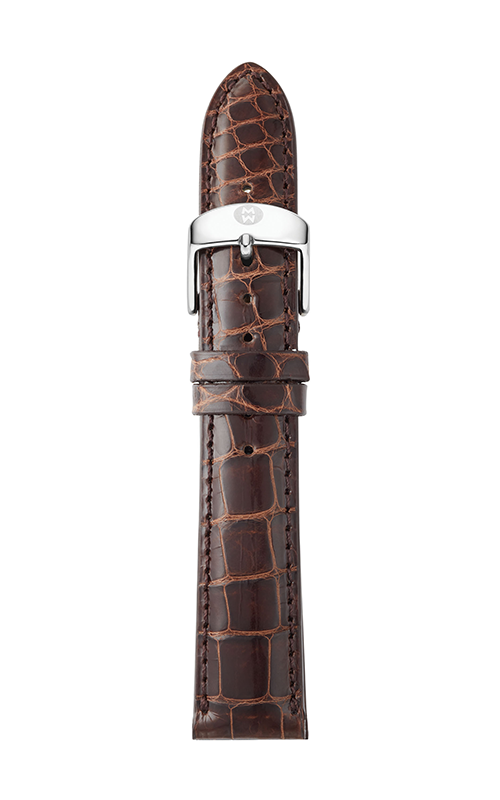 Michele 18mm Chocolate Alligator Strap MS18AA010202