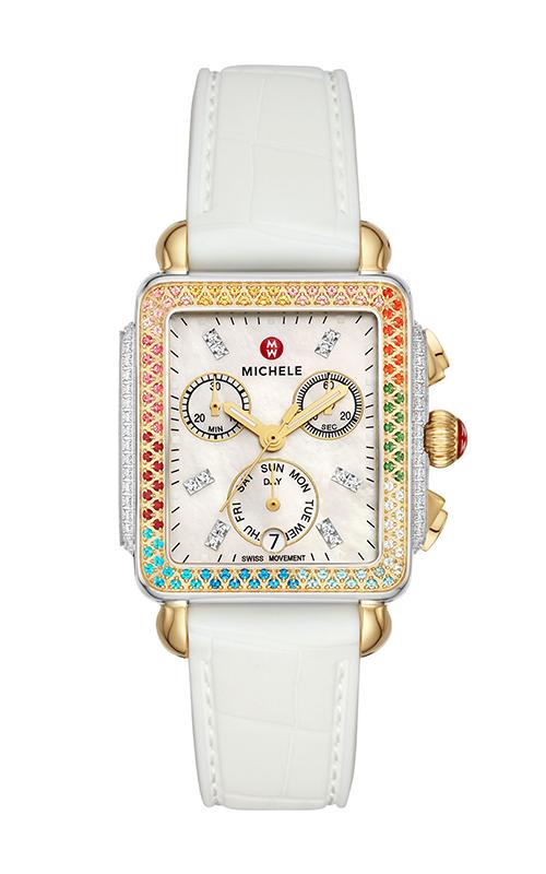 Michele Deco Carousel Two-Tone Diamond Watch MWW06P000297