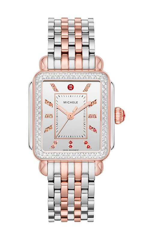 Michele Deco Carousel Dial Two-Tone 18k Pink Gold Diamond Watch MW06T01L8140_MS18AU775045