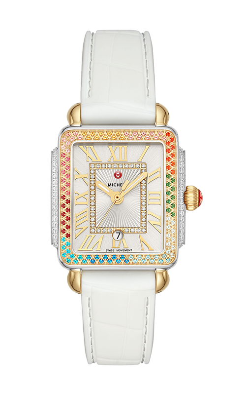 Michele Deco Madison Mid Carousel Two-Tone Diamond Watch MWW06G000022