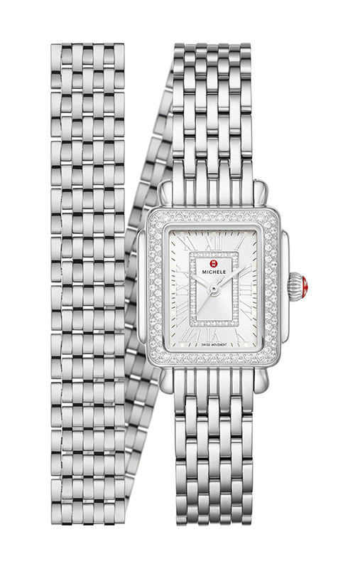 Michele Deco Madison Mini Stainless Diamond Watch MWW06D000162