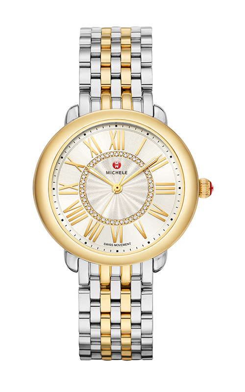 Michele Serein Mid Two-Tone 18k Diamond Dial Watch MWW21B000148