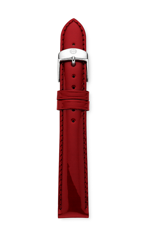 Michele 18mm Scarlet Patent Leather Strap product image