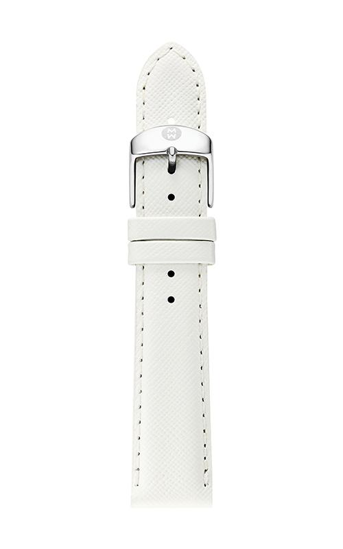Michele 18mm White Saffiano Strap product image