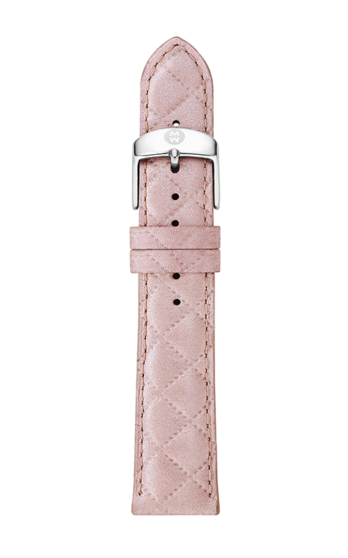 Michele 20mm Pearl Pink Quilted Leather Strap product image