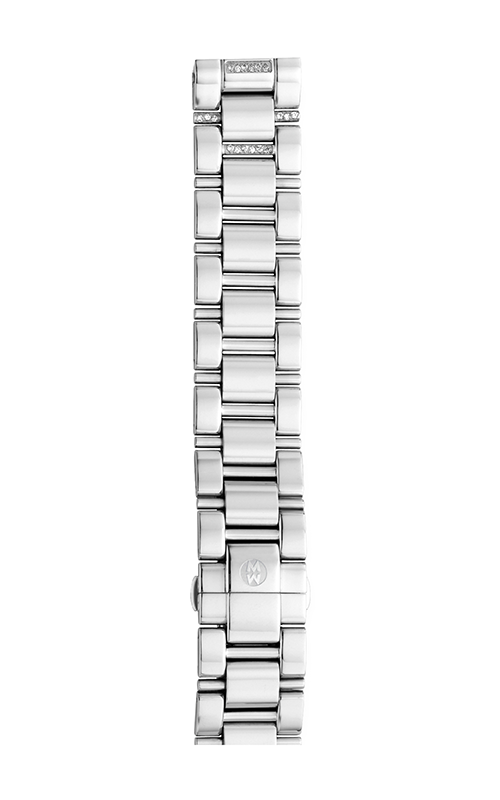 Michele 18mm Deco 3-Link Stainless Steel Bracelet with Diamonds product image
