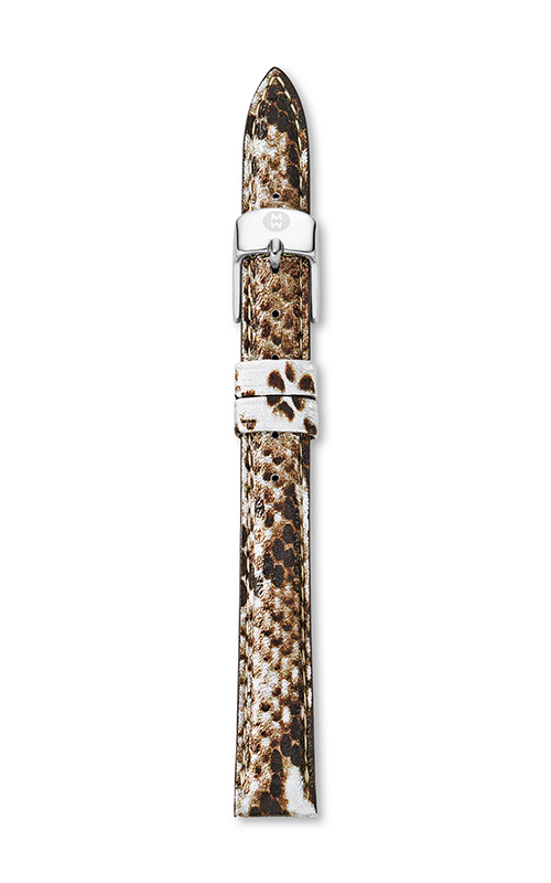 Michele 12mm Snake Print Leather Strap product image
