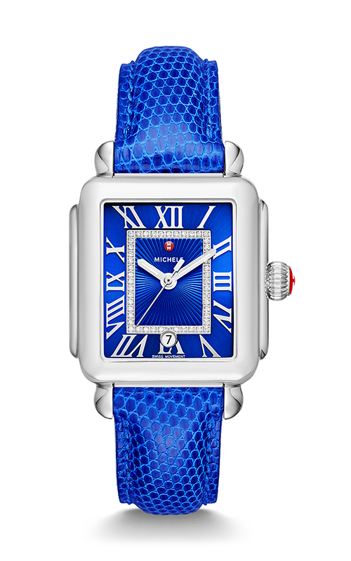 Michele Deco Madison, Cobalt Diamond Dial Cobalt Lizard Watch MW06T00A0101_MS18AA030402 product image