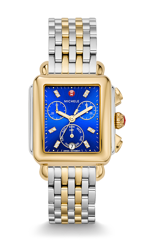 Michele Deco Two-Tone, Cobalt Diamond Dial Watch MW06P00C9101_MS18AU285048 product image