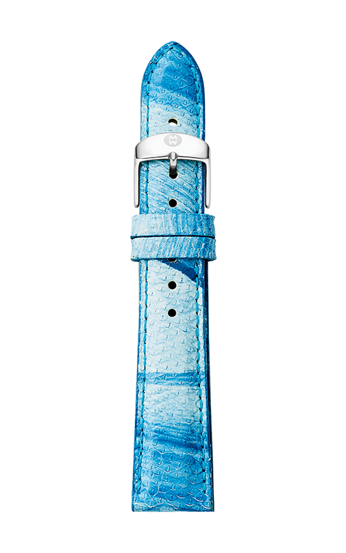 Michele 18mm Blue & White Painted Snakeskin Strap MS18AA420772 product image