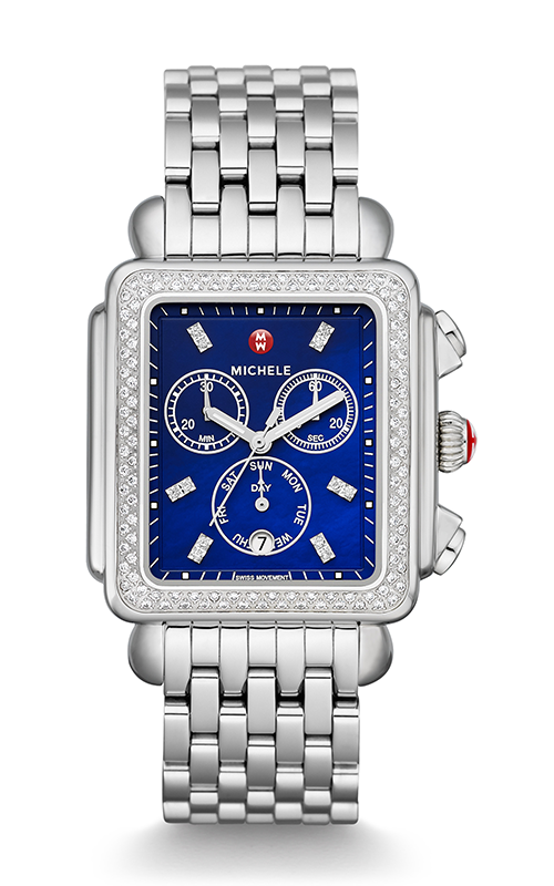 Michele Deco Diamond XL, Navy Diamond Dial Watch MW06Z01A1956_MS20CV235009 product image