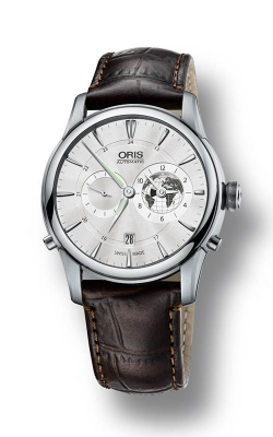 Oris Culture Artelier Greenwich Mean Time Limited Edition Watch 01 690 7690 4081-Set LS Kroko product image