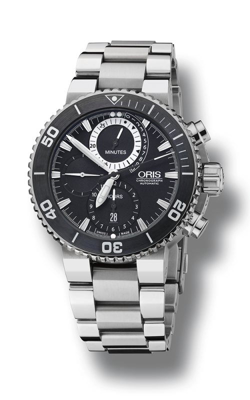 Oris Divers Carlos Coste Chronograph Limited Edition - Cenote Series 01 674 7655 7184-Set