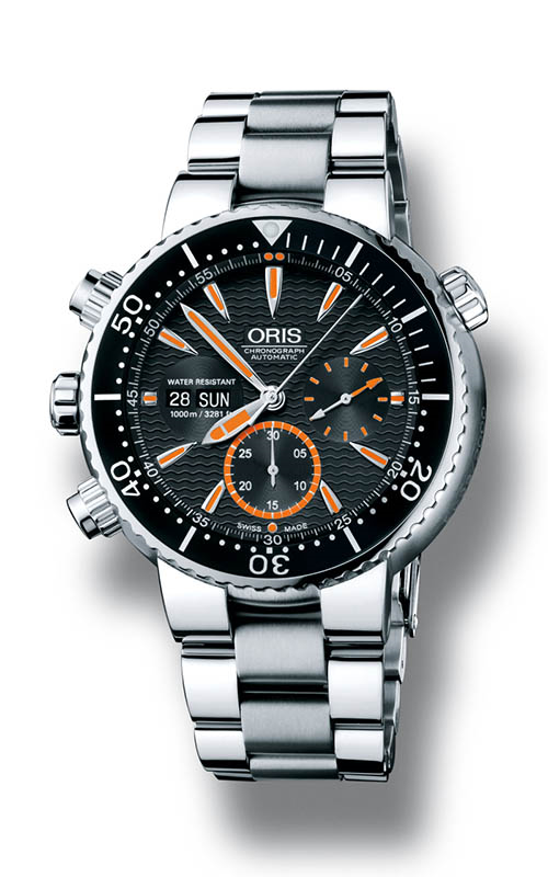 Oris Divers Carlos Coste Chronograph Limited Edition - Cenote Series 01 678 7598 7184-Set