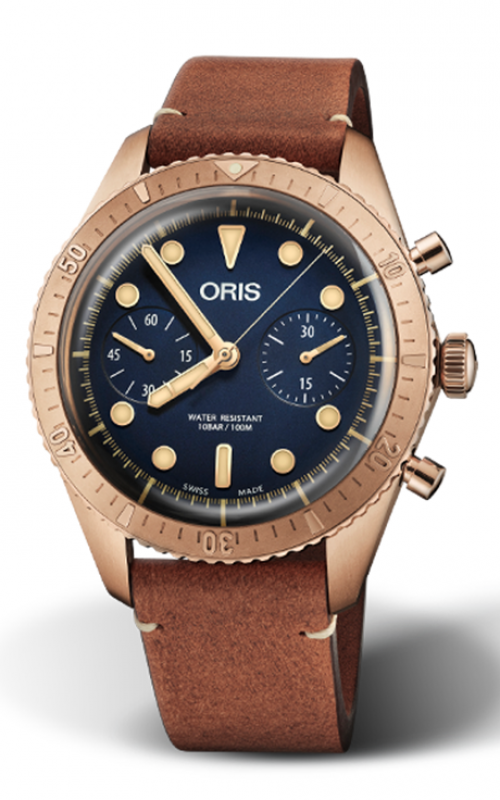 Oris Divers Carlos Coste Chronograph Limited Edition - Cenote Series 01 771 7744 3185-Set LS