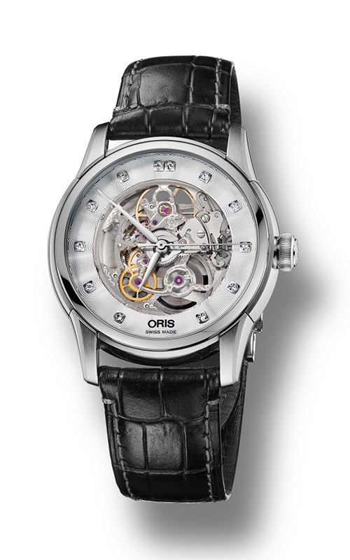 Oris Artelier Skeleton Diamonds Watch 01 734 7670 4019-07 5 21 71FC product image