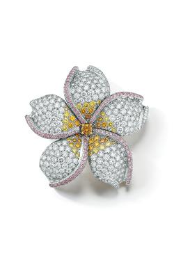 Oscar Heyman 18kt Gold & Platinum Five Petal Flower Diamond Brooch 200115 product image