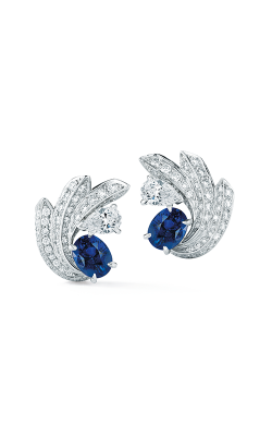 Oscar Heyman Platinum Sapphire And Diamond Starbburst Earrings 706388 product image