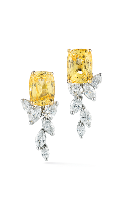 Oscar Heyman 18kt Gold & Platinum Yellow Sapphire Diamond Cascade Earrings 706414 product image