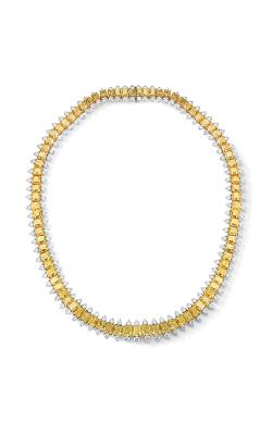 Oscar Heyman 18kt Gold & Platinum Exquisite Radiant Yellow Diamond Necklace 507806 product image