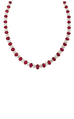 Oscar Heyman 18kt Gold & Platinum Burma Ruby And Diamond Necklace 601581 product image