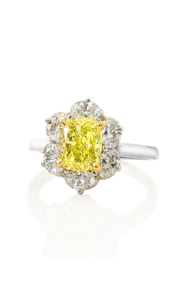Oscar Heyman 18kt Gold & Platinum Fancy Intense Yellow Diamond Ring 301996 product image