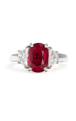 Oscar Heyman Platinum Ruby Diamond Ring 302346 product image