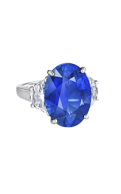 Oscar Heyman Platinum Oval Sapphire And Diamond Ring 302604 product image
