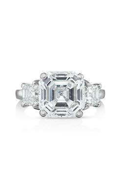 Oscar Heyman Platinum Asscher Cut Diamond Ring 301634 product image