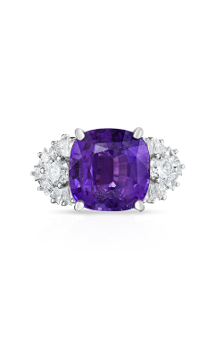 Oscar Heyman Platinum Unheated Purple Sapphire & Diamond Ring 302353 product image
