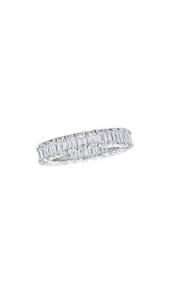 Oscar Heyman Platinum Square Diamond Guard Ring P3623  product image