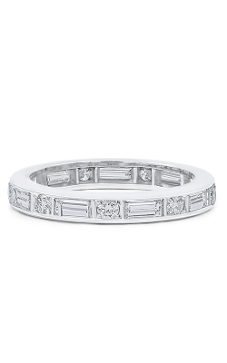 Oscar Heyman Platinum 3.00mm Baguette/Round Diamond Guard Ring W1895 product image