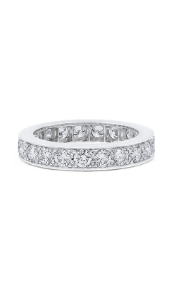 Oscar Heyman Platinum 4.00mm Diamond Bead Set Guard Ring W2318 product image