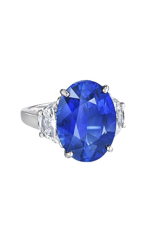 Oscar Heyman Platinum Oval Sapphire And Diamond Ring 302604 product image
