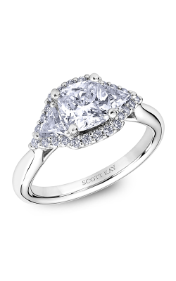 Scott Kay Heaven's Gates - 18k White Gold  Engagement Ring, M2564TR515 product image