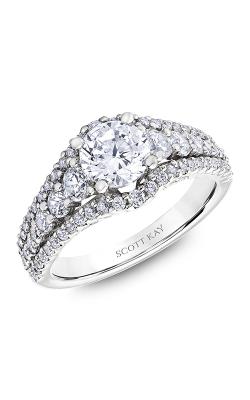 Scott Kay Namaste - 18k White Gold 1.29ctw Diamond Engagement Ring, M2582R510 product image
