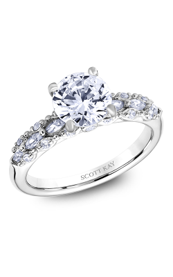 Scott Kay Luminaire - 18k White Gold 0.50ctw Diamond Engagement Ring, M2619RM515 product image