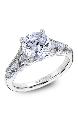 Scott Kay Luminaire - 18k White Gold 0.53ctw Diamond Engagement Ring, M2620RM520 product image