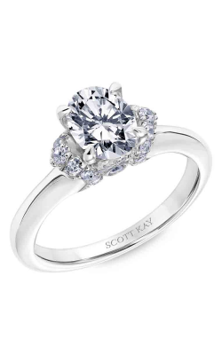 Scott Kay Luminaire - 18k White Gold 0.35ctw Diamond Engagement Ring, 31-SK5596FVP-E product image