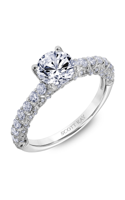 Scott Kay Heaven's Gates - 18k White Gold 0.75ctw Diamond Engagement Ring, 31-SK6019ERP-E product image
