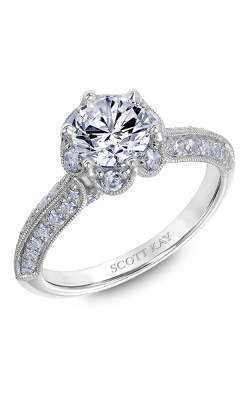Scott Kay Luminaire - 18k White Gold 0.75ctw Diamond Engagement Ring, 31-SK6026ERP-E product image