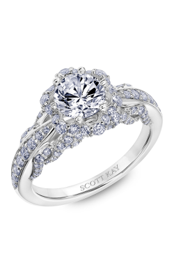 Scott Kay Luminaire - 18k White Gold 0.86ctw Diamond Engagement Ring, 31-SK6024ERP-E product image