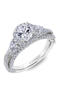 Scott Kay Namaste - 18k White Gold 1.10ctw Diamond Engagement Ring, 31-SK6000ERP-E product image